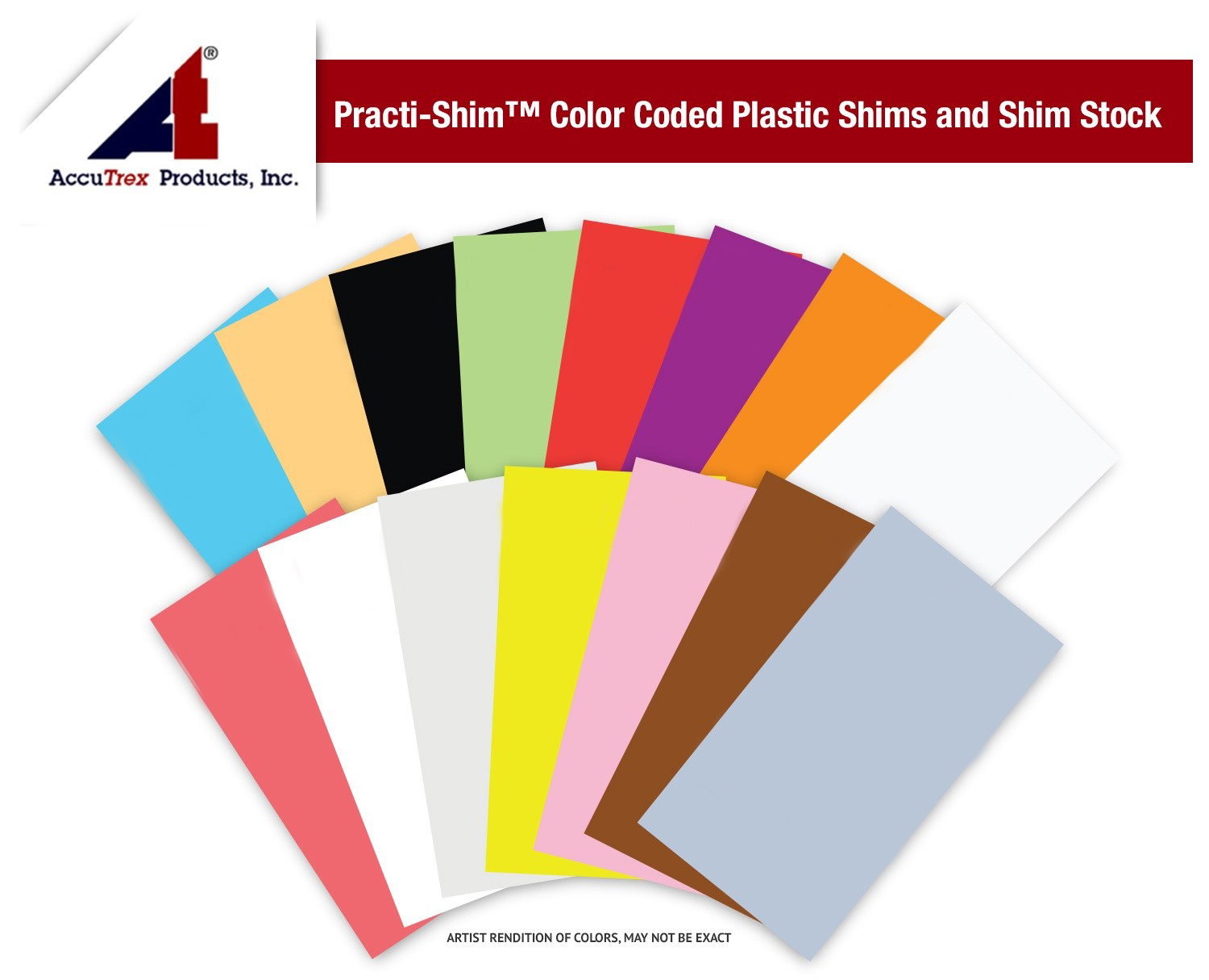 Practi-Shim™ Color Coded Plastic Shim Stock